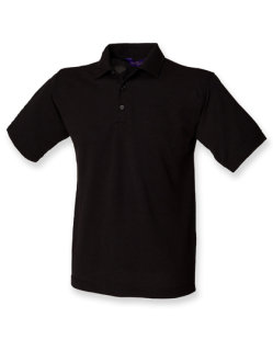 Henbury Männer 65/35 Classic Piqué Polo Shirt Black XL