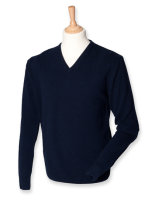 Henbury Lambswool V-Neck Pullover Navy L