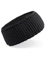 Beechfield Slopeside Waffle Headband Black One Size