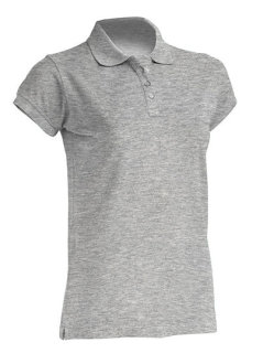 JHK Polo Regular Frauen Grey Melange XL