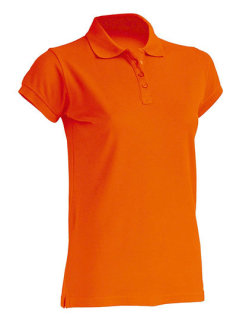 JHK Polo Regular Frauen Orange S