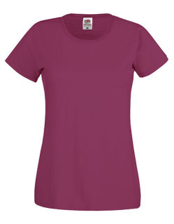 Fruit of the Loom Original T-Shirt Frauen Burgundy XXL