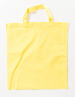 Baumwolltasche, kurze Henkel Light Yellow (ca. Pantone...
