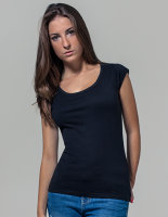 Build Your Brand Ladies` Back Cut Tee