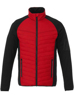 Elevate Banff Hybrid Insulated Jacket Men Red/Black S