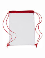 Transparent Backpack Red 35 x 46 x 0,1 cm