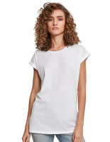 Build Your Brand Ladies Organic Extended Shoulder Tee