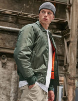Build Your Brand Collar Bomber Jacket